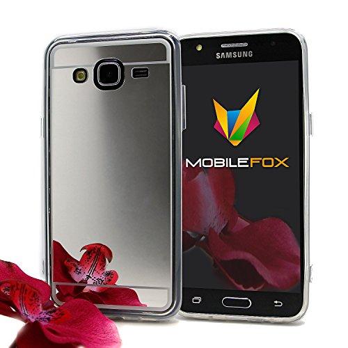 Mobilefox Schneewittchen Schutzhülle Spiegel TPU Case Samsung Galaxy J5 Silber