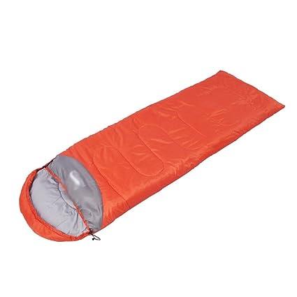 Lihaer Saco de Dormir Grueso Térmico para Adultos de Multifunción para Acampa Bolsa de Dormir Naranja