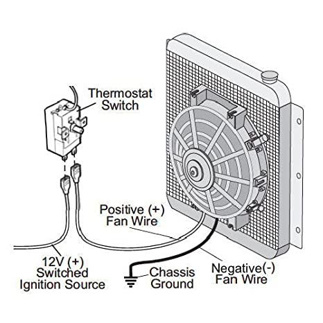 amazon com american volt adjustable electric radiator fan rh amazon com Electric Cooling Fan Wiring Diagram Dual Electric Fan Kit
