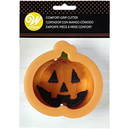 (Wilton Comfort Grip Orange Pumpkin Metal Cookie Cutter)