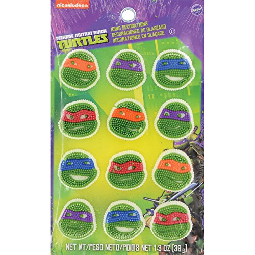 Wilton 710-7745 12 Count Teenage Mutant Ninja Turtles Icing Decorations -