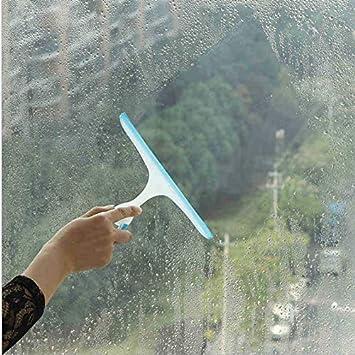 Peanutaso Limpiador de jabón de limpiaparabrisas de Vidrio Suave lámina de Silicona Ducha de baño en casa Espejo Rascador Parabrisas del Coche limpiaparabrisas Azul: Amazon.es: Hogar