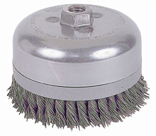- Weiler 12676 Double Row Knot Wire Cup, Banded, 6