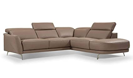 Amazoncom I730 Premium Leather Right Hand Facing Sectional Sofa In