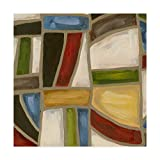 Trademark Fine Art Stained Glass Abstraction I by Karen Deans, 18x18-Inch