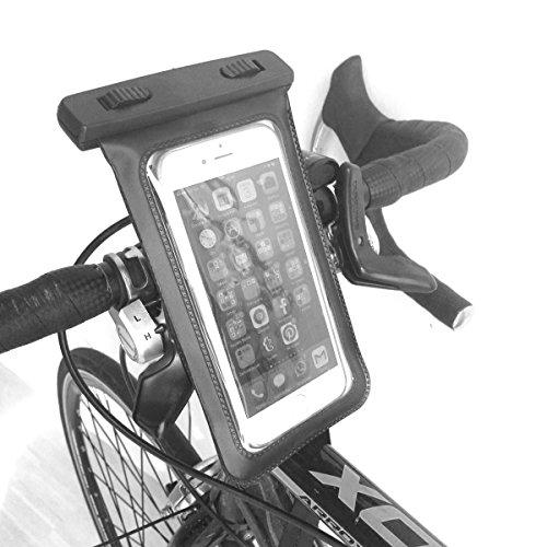 Original TheVeryMe® - 2 in1 Fahrradhalterung und Strandhülle, Smartphonehalterung und Wassercase, Handyhalterung für den Lenker und Badehülle - für Handys von 3- 5,5 Zoll bzw. 45x100 - 85x145 mm - wasserdicht