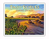 Pacifica Island Art - Paso Robles - Geneseo District - Central Coast AVA Vineyards - California Wine Country Art by Kerne Erickson - Fine Art Print - 16in x 20in