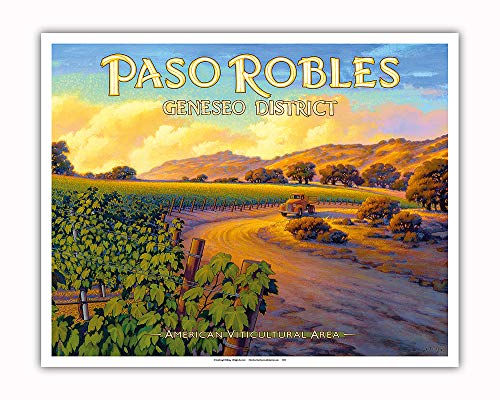 Pacifica Island Art - Paso Robles - Geneseo District - Central Coast AVA Vineyards - California Wine Country Art by Kerne Erickson - Fine Art Print - 16in x 20in by Pacifica Island Art (Image #1)