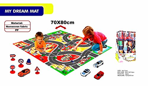 """Paradise Treasures Road Play Mat - Jumbo: 28 x 30"""" Luxurious Memory Foam, Large Activity Floor Carpet for Toy Cars and Trucks, Giant Rug"""