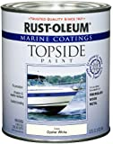 Rust-Oleum 207001 Marine Topside Paint, Oyster White, 1-Quart