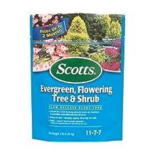 Scotts Evergreen , Tree & Shrub Food 11-7-7 Granules Continuous Release 3 Lb.