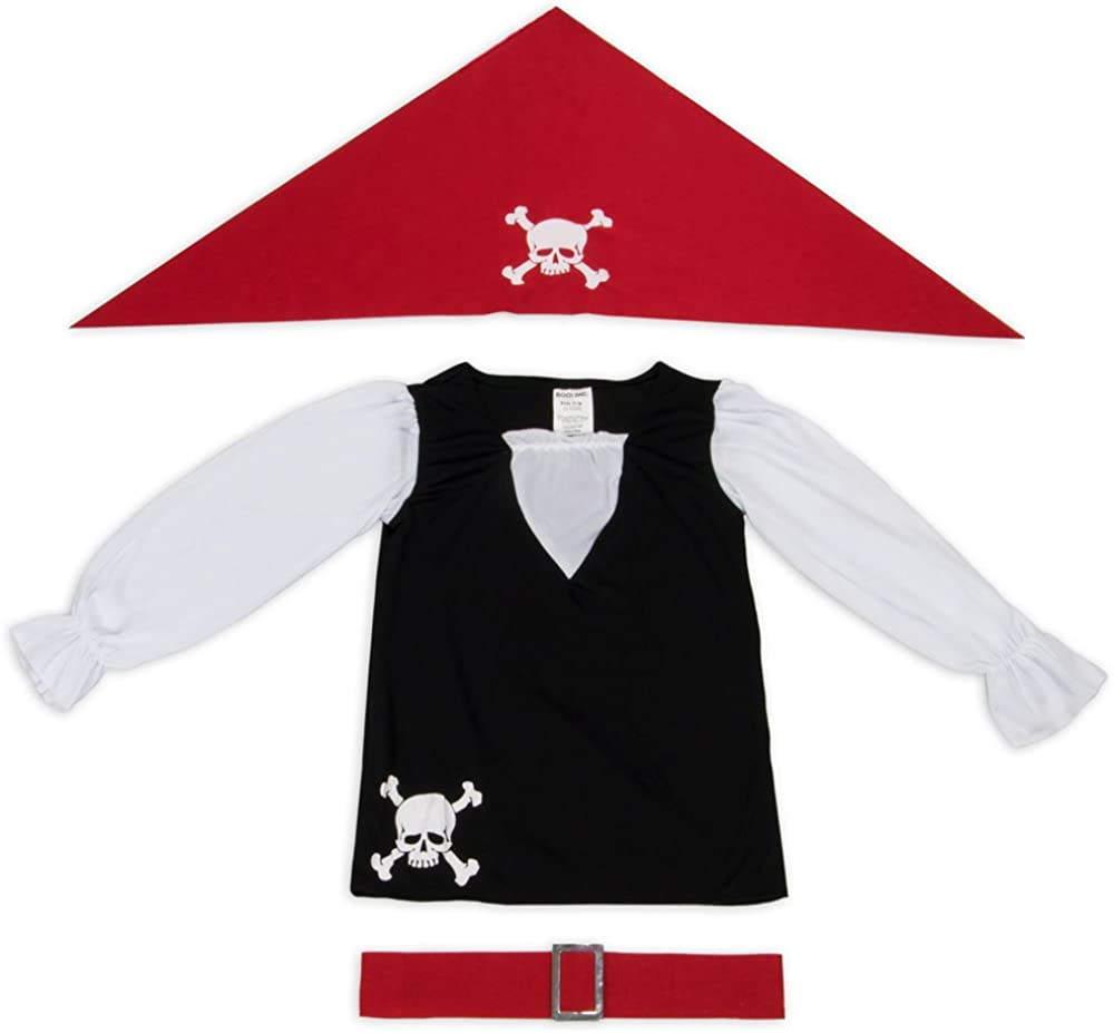 Dress Up Party Pretend Outfit Pretty Pirate Kids Girl Halloween Costume