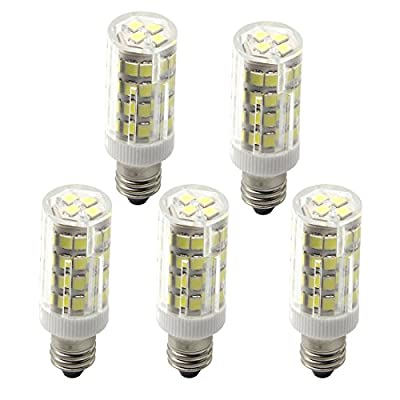 JD E12 LED Light Bulbs,7W,75W Equivalent,875LM,Warm White 3000K,360°Beam Angle,AC100-240V,T3 T4 E12 Base Light Bulb, Mini Candelabra Base, Not Dimmable,5-Pack