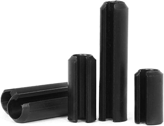 goupille fendue de positionnement creuse en acier au carbone 1.5-5mm Goupille cylindrique /élastique de 240Pcs