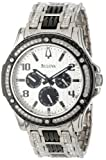 Bulova Men's 98C005 Crystal Day-Date Watch