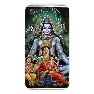 Apple Iphone Custom Case 4 4s Snap on - Shiv Parivar Hindu Deities Shiva, Parvati (Uma), Ganesha