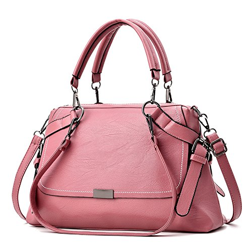 OME&QIUMEI Bolso De Hombro Única Mujer Rosa Pink