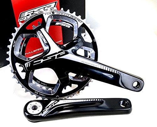 FSA Gossamer Pro 386EVO ABS DB Road Bicycle Crankset (Black - 46/36t - 175 w/o BB N-11) by Full Speed Ahead