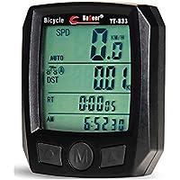 NuoYa005 Red Bike Mini Computer Odometer Speedometer Waterproof for Cycling Bike Bicycle