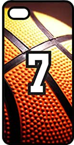 Basketball Sports Fan Player Number 7 Black Plastic Decorative iPhone 5c Case