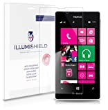 iLLumiShield – Nokia Lumia 521 Crystal Clear Screen Protectors with Anti-Bubble/Anti-Fingerprint – 3-Pack + Lifetime Replacements, Best Gadgets