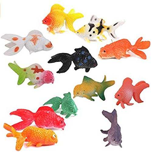 (Nicedeal Model Plastic Goldfish Toys Set Pack of 12 Colorful Child Toy for Fun and Entertainment)