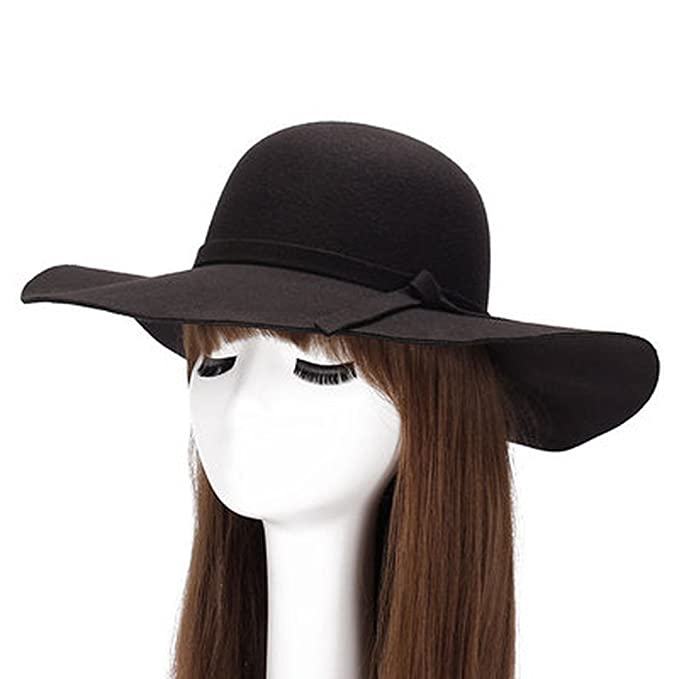 698babfd8 AOBRITON Female Wide-Brimmed Hat Fedora Chapeu Sombrero Sun Hat for ...