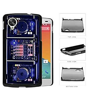 DJ Turntables With Glow Neon Lights Hard Plastic Snap On Cell Phone Case LG Nexus 5