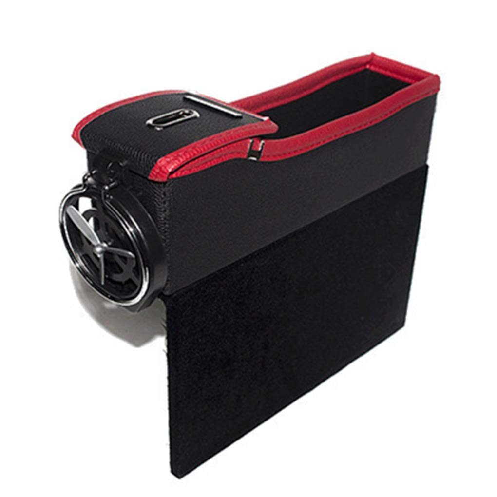 Tralntion Cars Storage Boxes Slots Cup Holders Leather Pocket Phone Seats Interior Universal Size Accessories