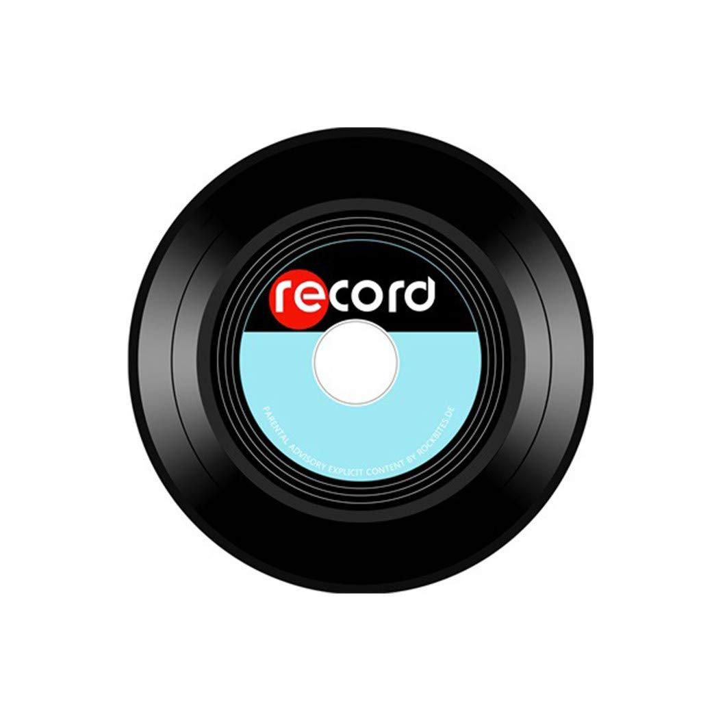 Creativo Disco Retro Vinile Stampato Tappeto Camera Da Letto Tappeto Rotondo Morbido Poliestere Non Antiscivolo Tappetino Decorativo Per La Casa Per Sgabello Webla Tappeto Da Pavimento 40Cm