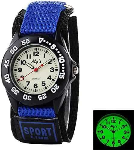Misskt Outdoors Watch with Blue Velcro Strap Children Kids Watches Outdoor Sports Boy Girl Waterproof Watches