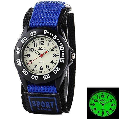 Misskt Outdoors Watch with Velcro Strap Children Kids Watches Outdoor Sports Boy Girl Waterproof Watches