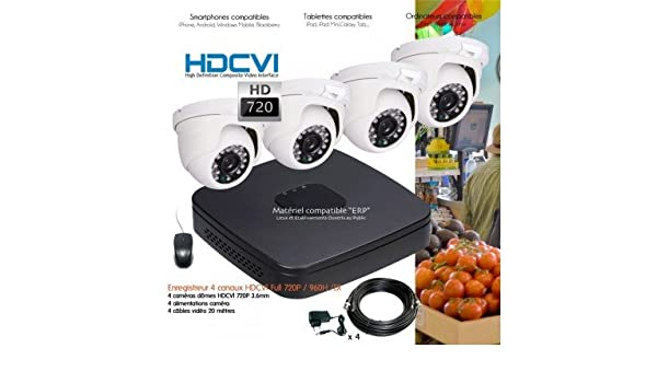 Hyundai - Kit de video vigilancia hd 720p con 4 Cúpula infrarrojos 25 m - Kit - D339 - 4 x 575 - Disco duro de 1 TB: Amazon.es: Bricolaje y herramientas