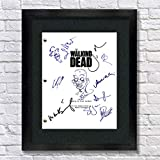 The Walking Dead Autographed Signed Reprint 8.5x11 Script 13x15 Framed Rick Grimes, Daryl Dixon, Lori Grimes, Shane Walsh