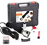 Pet & Livestock HQ 380W Professional Dog Grooming Clippers Kit, Large & Medium Dog Haircut Machine, Heavy-Duty, Electric Hair Trimmer for Dogs with Thick Coats, Horses, Pigs & Cattle, 2 Blades