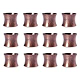 DII Basic Everyday Napkin Rings for Place Settings, Wedding Receptions, Dinner or Holiday Parties, Family Gatherings (Set of 12), Hammered Antique Copper