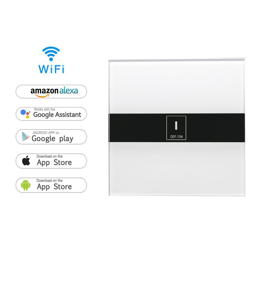 Smart Home Schalter, MroTech WiFi Touch Lichtschalter WLAN In-Wall ...
