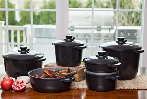 Maker Homeware 5 Quart Dutch Oven With Nonstick Ceramic
