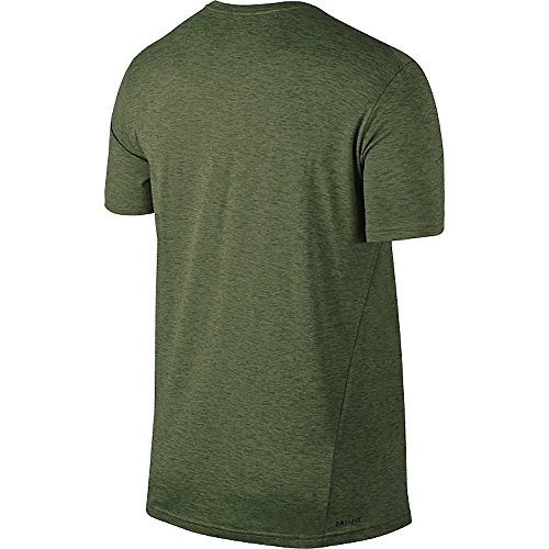 Nike M Nk Brt Ss Hpr Dry Camiseta de Manga Corta, Hombre Verde (Palm Green / Legion Green / Black)