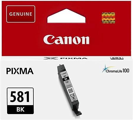 Canon Cli 581 Bk Tintentank Foto Schwarz 5 6 Ml Für Pixma Tintenstrahldrucker Original Bürobedarf Schreibwaren