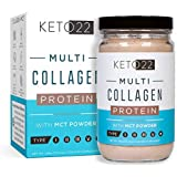 Chocolate Keto Collagen Protein Powder - High Quality Multi Collagen Keto Powder with MCT Oil Powder - Keto Protein Powder - Keto Chocolate Shake - Paleo & Gluten Free - Glass Bottle