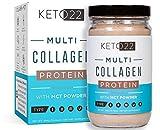 Chocolate Collagen Keto Protein Powder – High Quality Multi Collagen Keto Powder with MCT Oil Powder – Keto Collagen Protein Powder – Keto Chocolate Shake – Paleo & Gluten Free – Glass Bottle