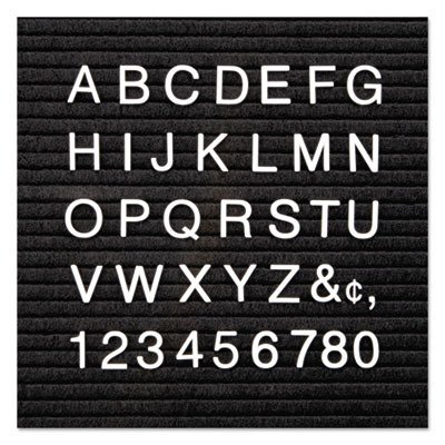 - Quartet : Plastic 1/2quot; Helvetica Characters for Grooved Felt Boards, 300/set, White -:- Sold as 2 Packs of - 300 - / - Total of 600 Each