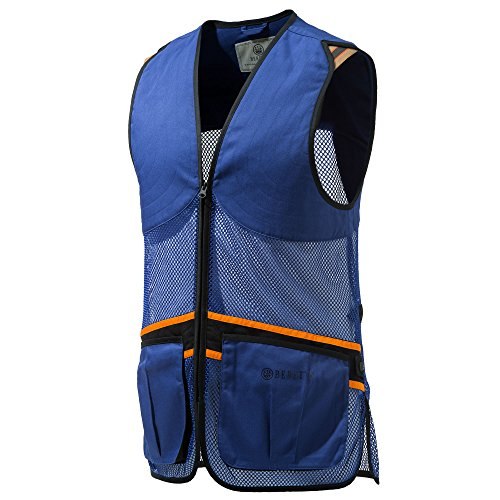 Beretta Full Mesh Shooters Vest, Color Blue, Large
