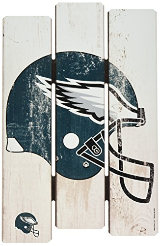 Eagles Home Philadelphia Decor - Wincraft NFL Philadelphia Eagles Wood Fence Sign, Black