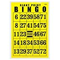 Giant印刷Bingoカード–ブラックonイエロー背景