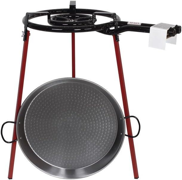 Cofan 41007750 - Kit Paellera con Quemador y Patas, Acero Gris, 46 cm