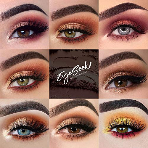 EYESEEK Eyeshadow Palette Glitter Pro 60 Colors Matte Shimmer Eye Shadow All In One Makeup Palette High Pigmented Metallic Color Eye Shadow Powder Easy To Blend Sparkle Glitter Eyeshadow Pallet #Brown