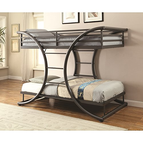 Coaster Twin/Twin Bunk Bed (Gunmetal), 461078