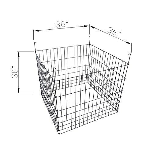 MTB Garden Wire Compost Bin 36'' L x36 W x 30'' H, Black
